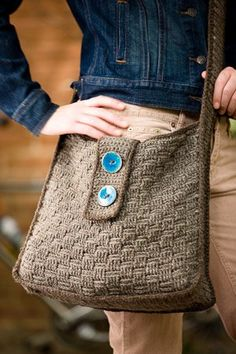 crochet basketweave bag