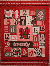 Love Counts Quilt Pattern by Crazy Old Ladies at KayeWood.com http://www.kayewood.com/item/Love_Counts_Quilt_Pattern/2957 $9.00