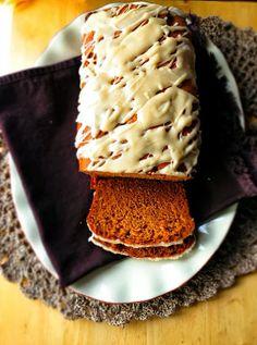 Pumpkin Loaf with Maple Glaze