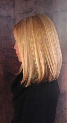 blonde balayage hair highlights lob long bob.. been thinking fo a change lately...