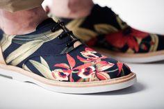 fashion shoes, pattern, men's loafers, men style, flower prints, men fashion, men shoes, floral shoe, flowers
