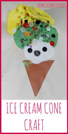 Check out the cool homemade paint used to make this fun ice cream craft!