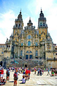 Cathedral of Santiago de Compostela, Galicia, Spain.
