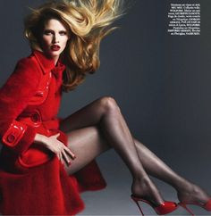 Lara Stone Leads 'Fatale' By Mert & Marcus For Vogue Paris March2014 - 3 Sensual Fashion Editorials   Art Exhibits - Anne of Carversville W...