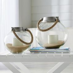 Our clear glass hurricane candle holders strike the perfect balance between contemporary design and rustic charm