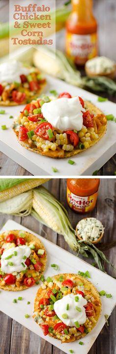 Buffalo Chicken and Sweet Corn Tostada - Krafted Koch