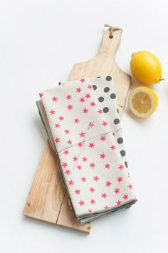 From Clementine — Star And Polka Dot Tea Towels Set Of Two  Anna Joyce