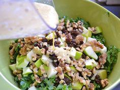 Apple Dijon Kale Salad