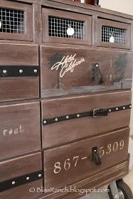 CHEST of DRAWERS Rustic dresser.