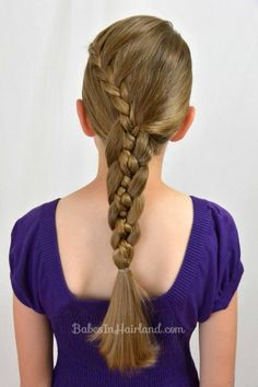Lace Braid into a 4 Strand Braid
