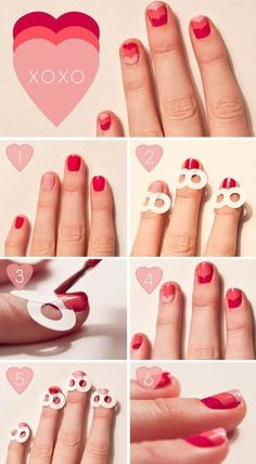 Fun triple heart how-to! Try it out Ladies! #nailart #heartnails #nails For more pretty nail looks, join http://bellashoot.com