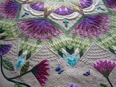 Zen Garden Quilt by fourseasonsquiltswap, via Flickr