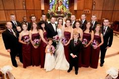 Marie Ripslinger Atwater—Her husband Shawn and their wedding party. The first granddaughter to marry.