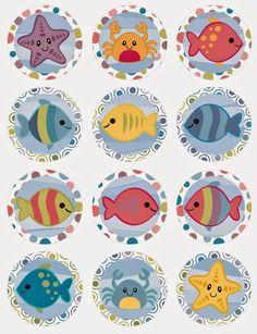 Ideas y material gratis para fiestas y celebraciones Oh My Fiesta!: Bajo el Mar: Mini Kit para Imprimir Gratis.