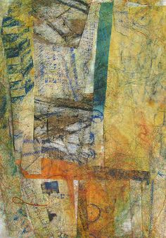 TEXTURE! Tissue paper collage with Frottage   Collage by Fi@84, via Flickr