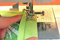 sewing corners with bias tape