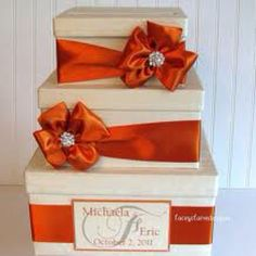 Orange & ivory square box google images