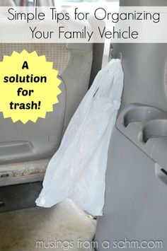 Car Organization: How I Organized Our Mini Van, Including a Solution for Trash In The Car