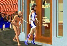 Female-Supremacy-Mistress-Wife-Male-Slave-on-a-Leash