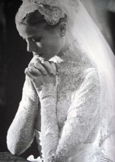 Grace Kelly's wedding dress, by Edith Head
