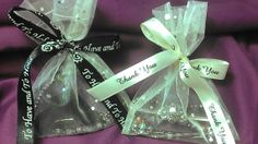Shimmering Gold And Silver Dots Ivory French Seam Organza Bags by DaytonsTreasureBox, $0.64