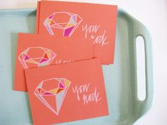 You Rock Screen printed cards