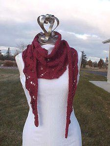 Free knit scarf pattern: Old Flames Scarf