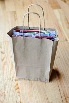 Bag of Blessings - fun and meaningful way to use the Christmas cards people sent you.