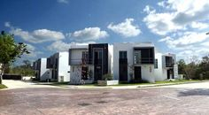 Modern housing complex at El Cielo Residencial. Playa del Carmen real estate.