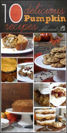 10 Delicious Pumpkin Recipes | MyBlessedLife.net