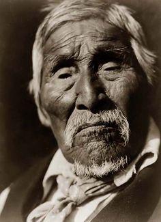 Old Bob, a Karok Indian Man, 1923 by Edward S. Curtis.