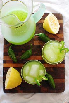 Lemon Jalapeño Spritzers