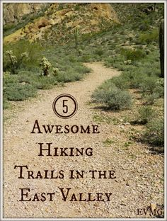 Hiking Trails in the East Valley of Phoenix, AZ. Love!