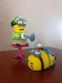 Despicable Me Fondant Cake Topper Minions by ArtCreationsbyLK, $35.00
