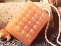 DIY Apricot Soap on a Rope makes a great gift idea.  Find out how to make it at http://thegardeningcook.com/diy-apricot-soap-on-a-rope/