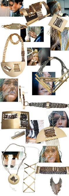 Knit and crochet jewelry  http://www.arielledepinto.com/
