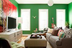Bright Green walls