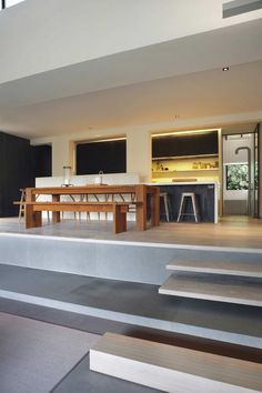 Interesting Home Interior with Minimalist Style: Comfortable Brookvale Home Interior For Kitchen And Dining Room With Wooden Dining Furnitur...