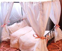victorian bed miniature