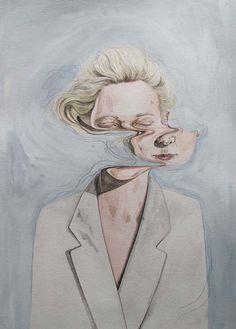 artists, watercolor portraits, illustrations, inspir, henrietta harri, prints, paintings, henriettaharri, eye