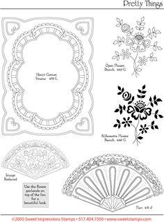 Pergamano šablony - free pattern - Kateřina Horáková - Picasa Albums Web