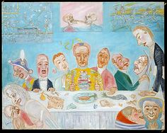 The Banquet of the Starved  James Ensor (Belgian, Ostend 1860–1949 Ostend)  Date: 1915 Medium: Oil on canvas