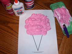 Cotton candy puffy paint