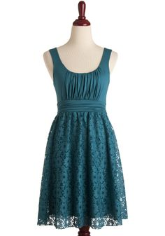 Lace Turquoise Dress