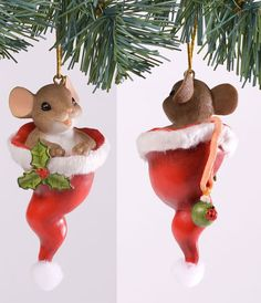 Charming Tails Just Hat to Wish You a Merry Christmas Ornament