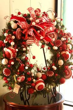 Pretty way to display wreaths if you have more than one you like!