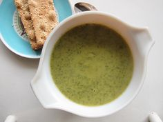broccoli spinach soup.  Made 1/2013.  Easy and good.  Used 6 oz bag fresh spinach and 16 oz bag frozen broccoli.  Decrease red pepper flakes to 1/4t.  Maybe add a splash of lemon juice for some acid.