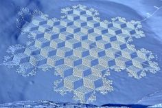 Snow quilts: Man Walks All Day to Create Spectacular Snow Patterns - My Modern Metropolis