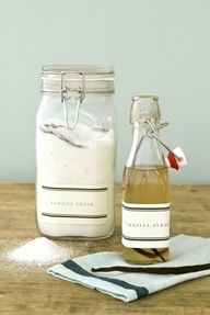 Homemade gifts for Mothers Day - Vanilla Sugar  Vanilla Syrup