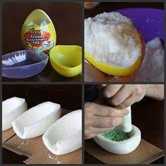 If you can't locate a Wilton egg mold these plastic candy filled eggs are the next best mold to use. Pointy at the top, but sturdier plastic than other candy egg molds. panoramic sugar eggs | Pressed Sugar Panoramic Easter Eggs |